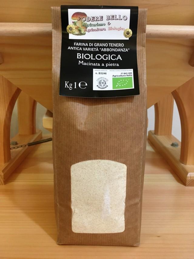 Farina di grano tenero varietà antica  Abbondanza bio 1 kg 2,70€