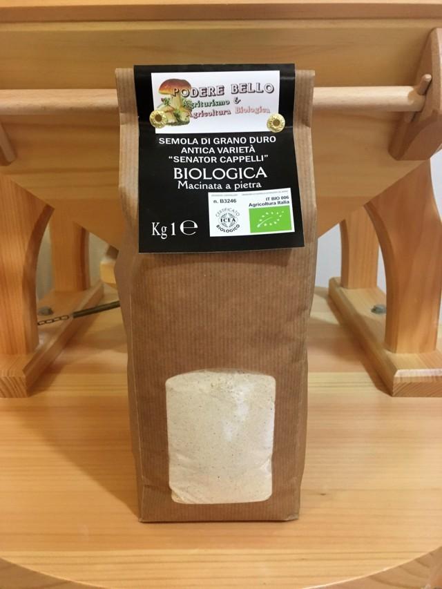 Farina di Grano duro Senatore Cappelli Bio 1kg 2,80€