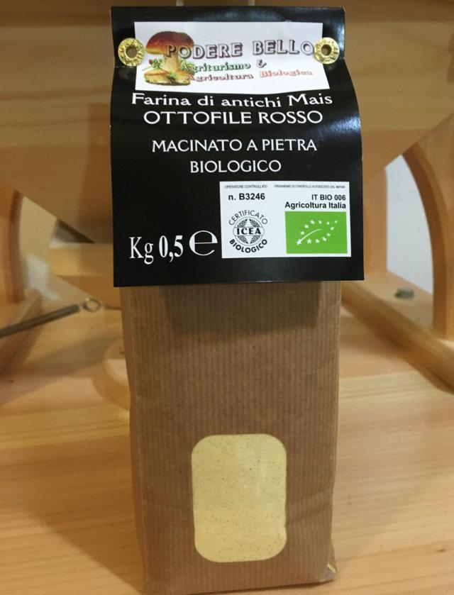 Farina di antichi mais ''Ottofile Rosso'' bio 500g 2,50